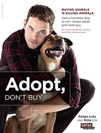 Kellan Lutz and Kola for peta2