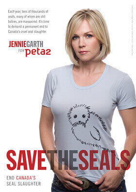 Jennie Garth's 'Save the Seals' Ad for peta2