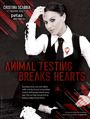 Lacuna Coil: 'Animal Testing Breaks Hearts'