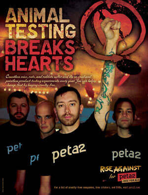 Rise Against: 'Animal Testing Breaks Hearts'