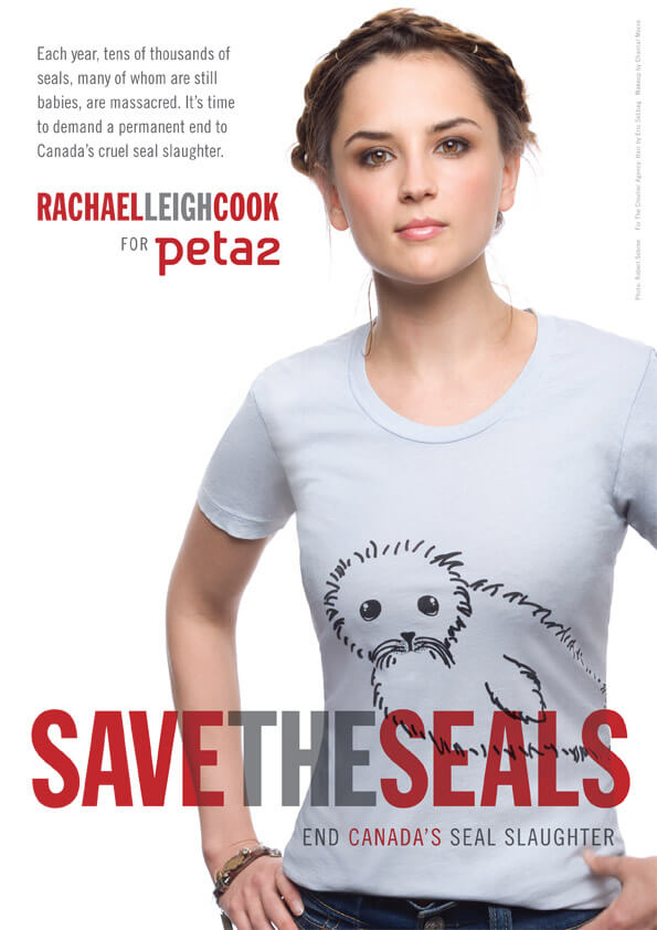 Rachael Leigh Cook's 'Save the Seals' Ad for peta2