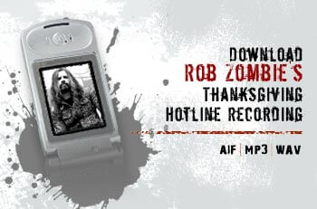 Rob Zombie's Thanksgiving Message