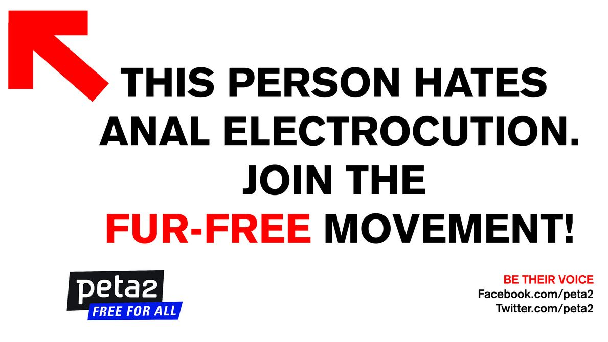 Post this sign to facebook if you think anal electrocution is wrong.
