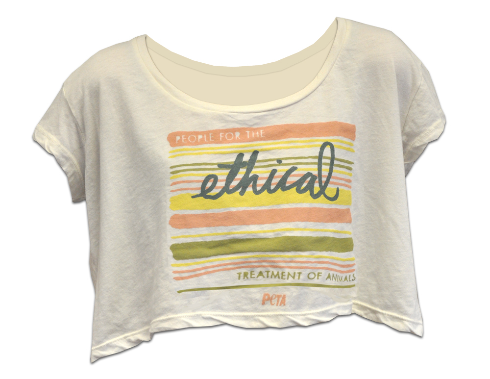 "PETA ""Ethical"" crop top"