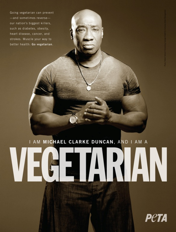 PETA Vegetarian Testimonial with actor Michael Clarke Duncan
