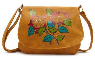 Painted Floral-Flap Bag