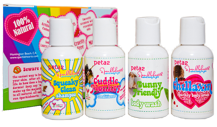 PETA Dirt Free Hurt Free gift set from Sparklehearts