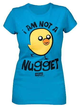 win a 'I Am Not A Nugget' blue fitted t-shirt