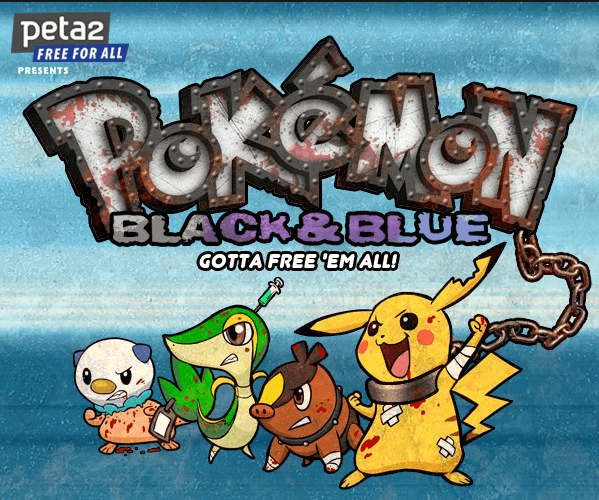 Screen grab from peta2's free online Pokemon parody game