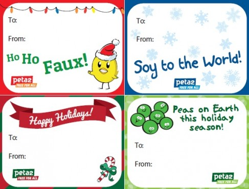 peta2 holiday gift tags