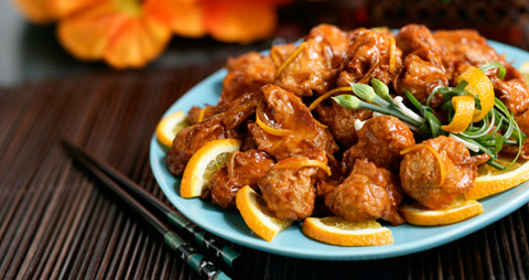 Vegetarian-plus-vegan-orange-chicken