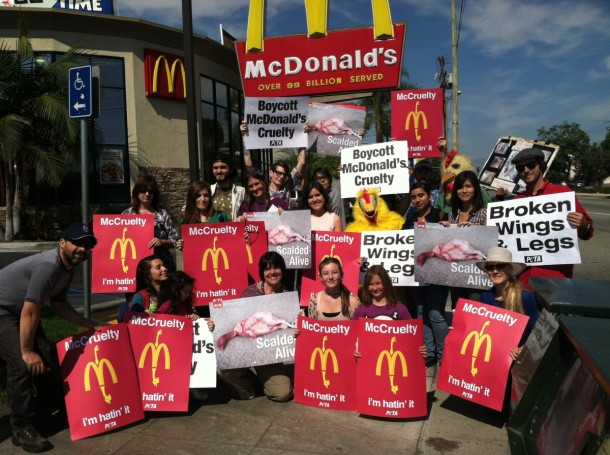 peta2 McCruelty Protest