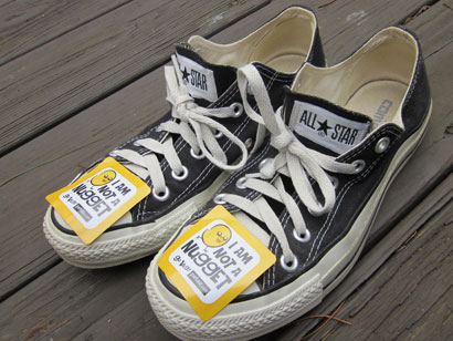 shoes with stickers