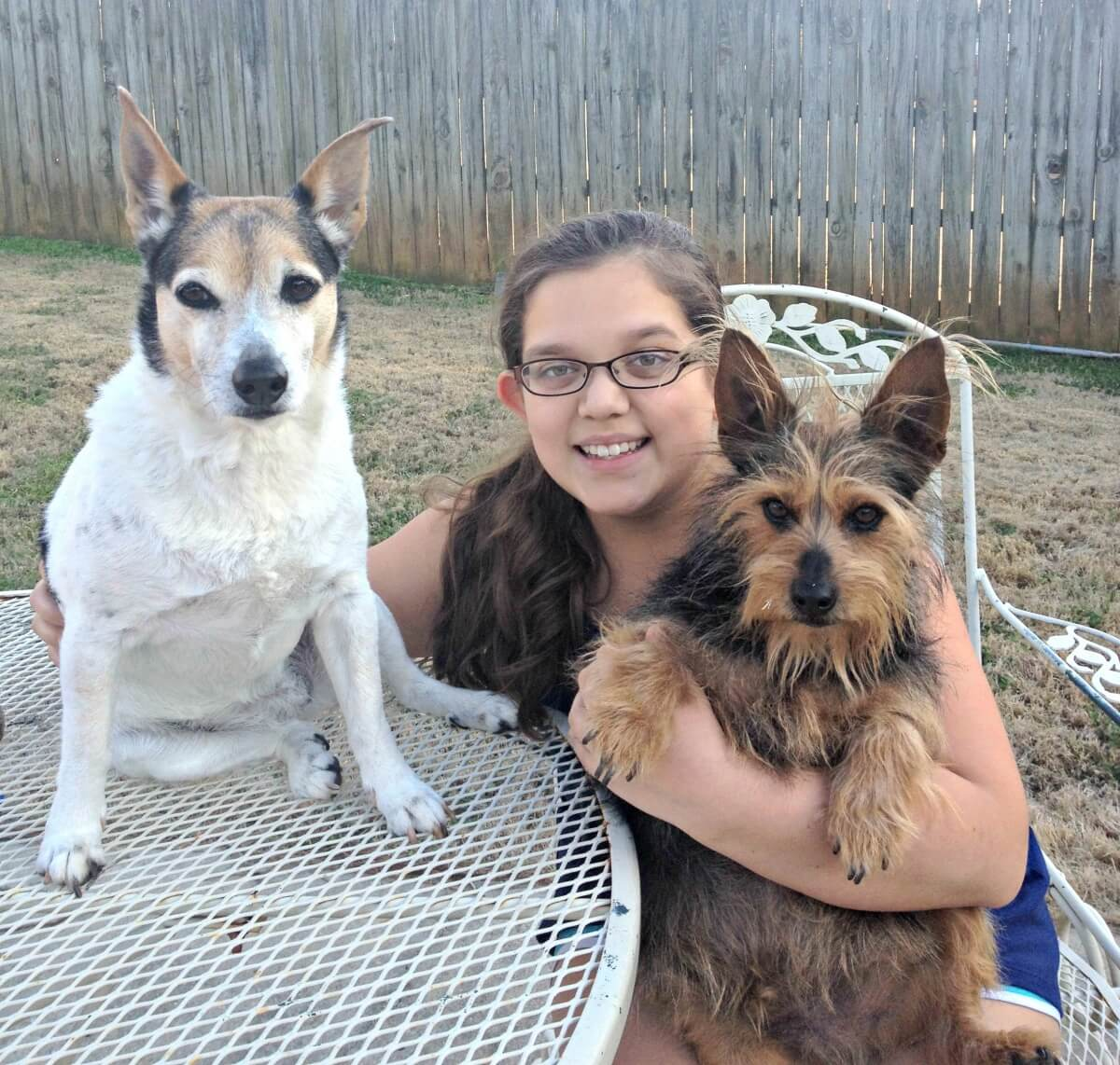 Monica Williford with her dogs