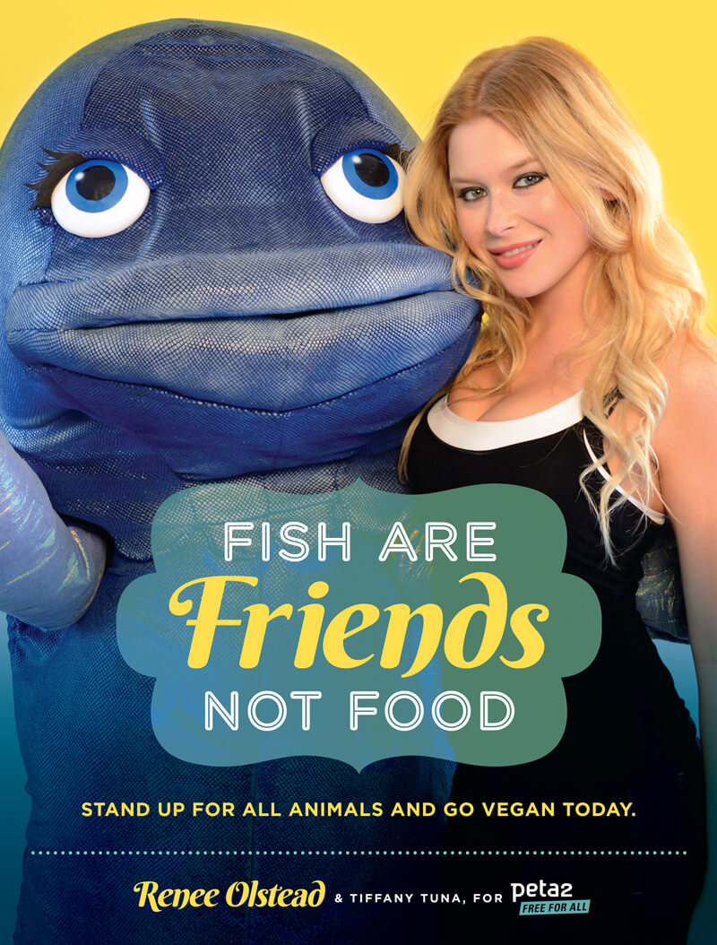 Renee Olstead Fish Are Friends Not Food Ad