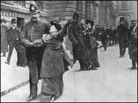 woman protesting with police