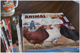 PETA's Animal Times magazine is my favorite one to leave at doctor's appointments.