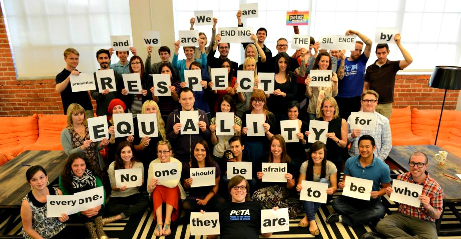 peta2 staff supports equality