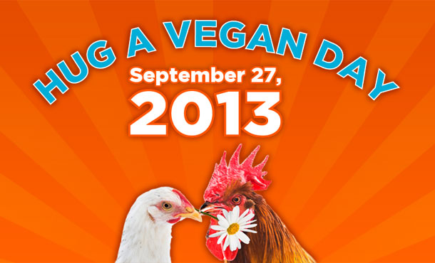 hug a vegan day