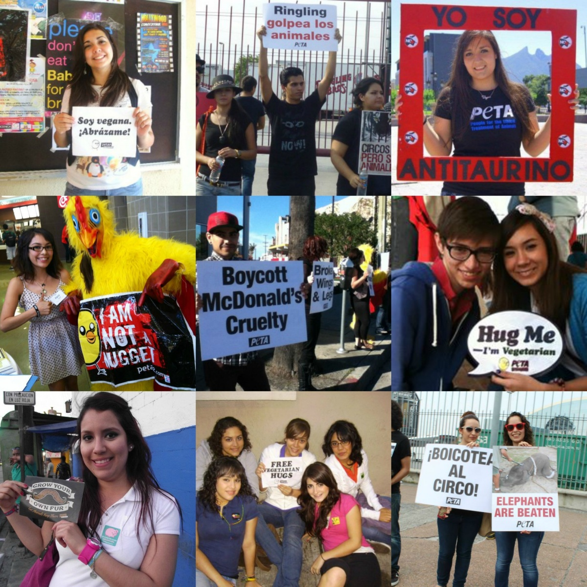 Collage latino street teamers
