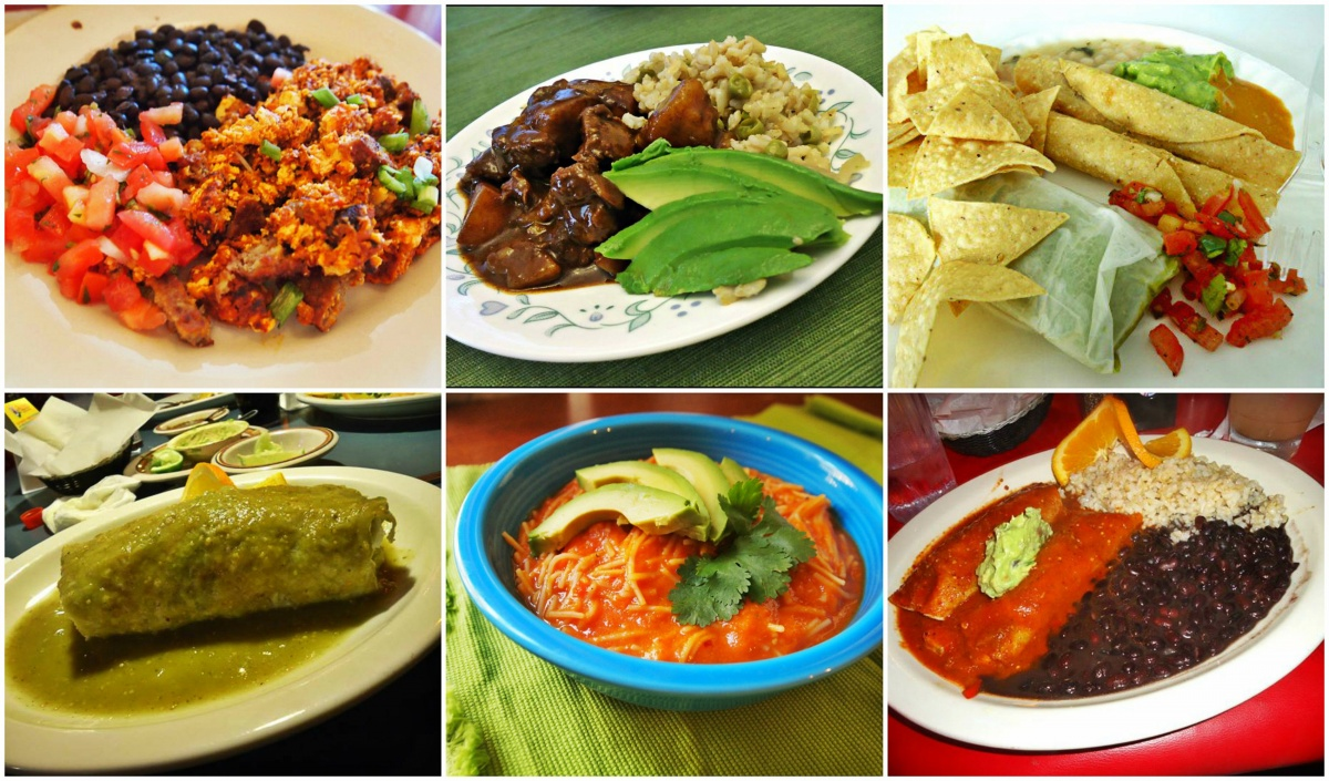 Vegan Mexican dishes