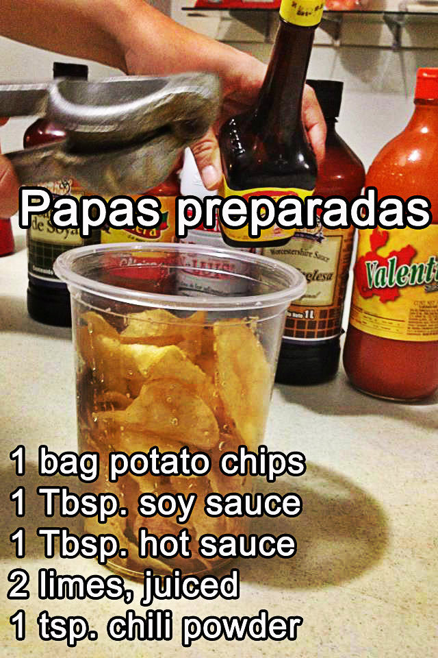Mexican style potato chips