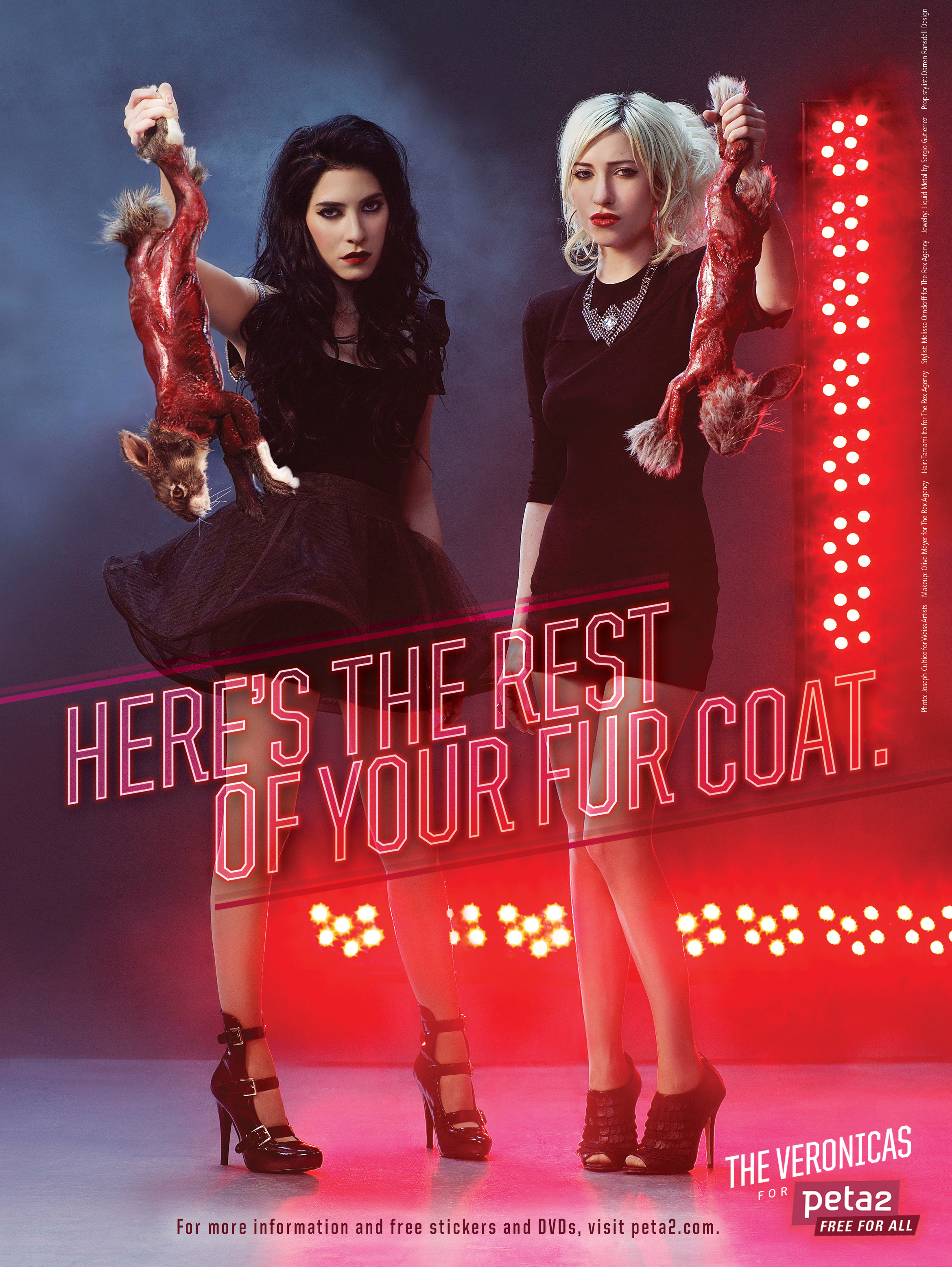 The Veronicas anti-fur PSA
