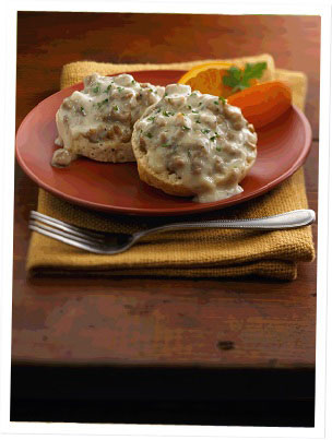 biscuits and gravy sausage