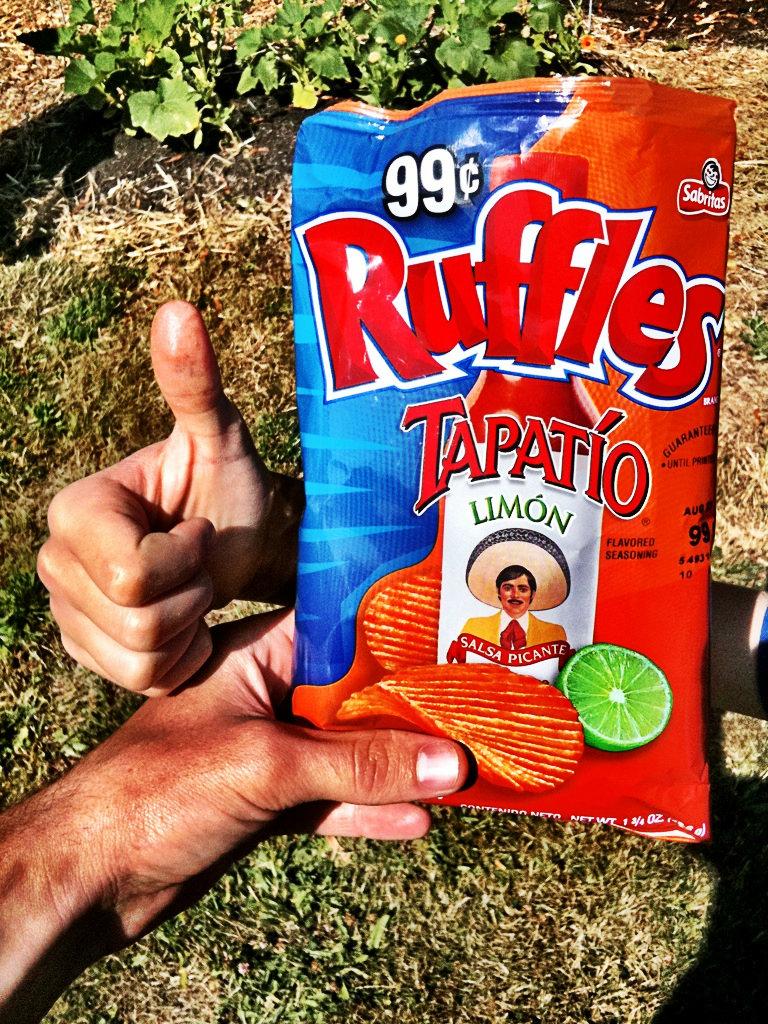 ruffles tapatio vegan