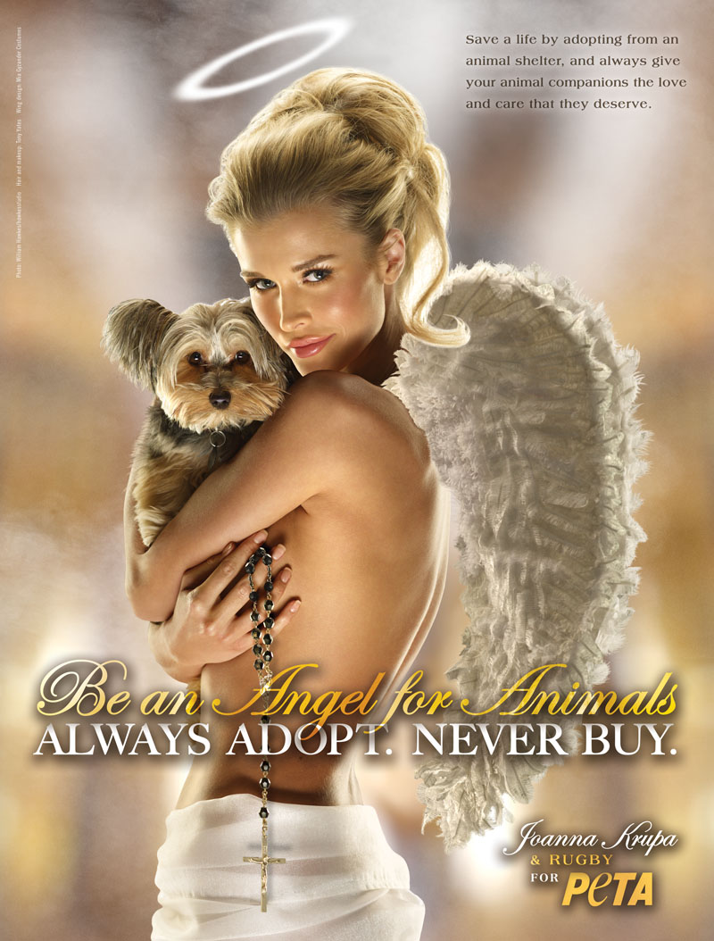 joanna krupa angel for animals naked