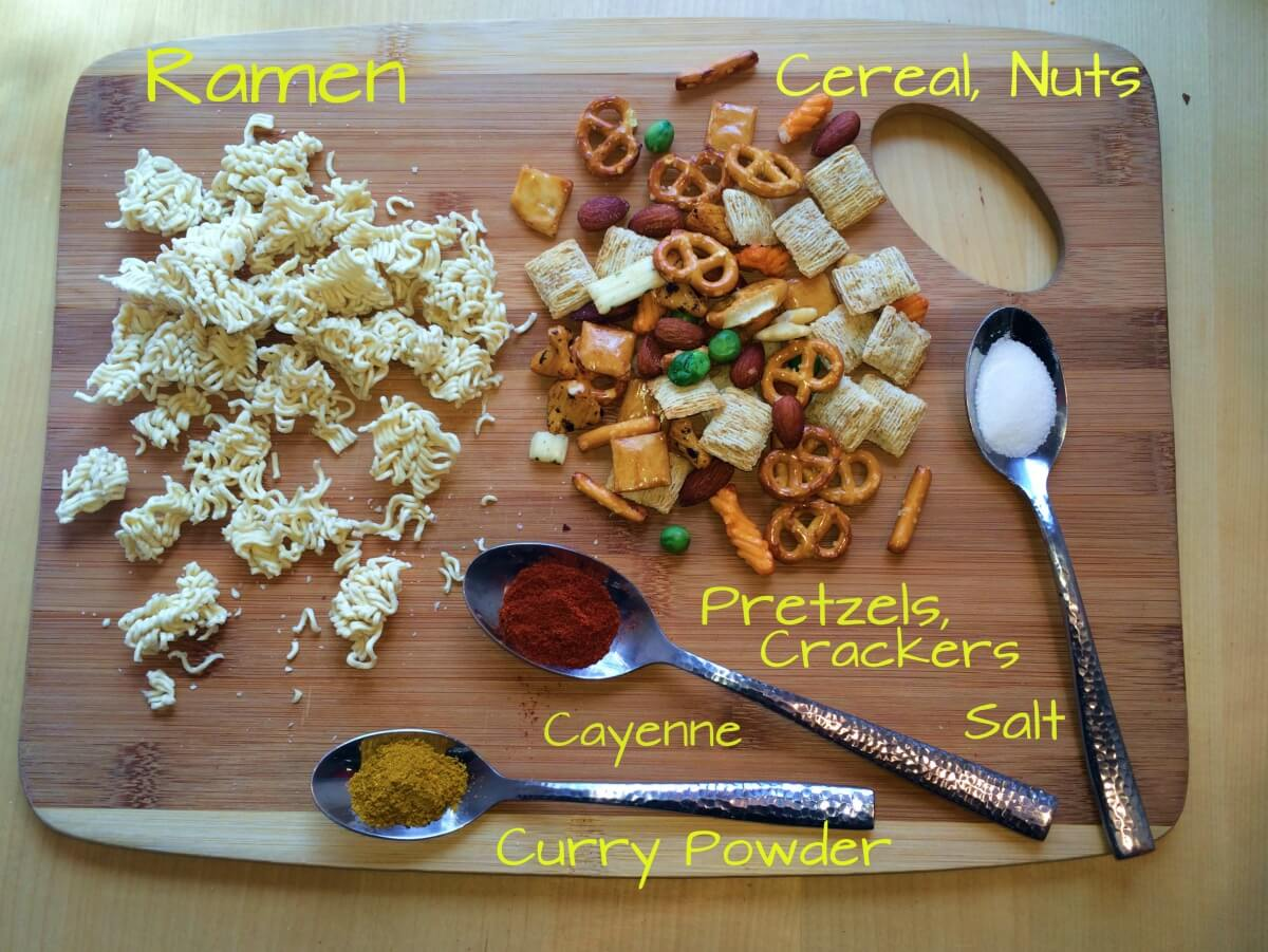vegan ramen chex snack mix recipe