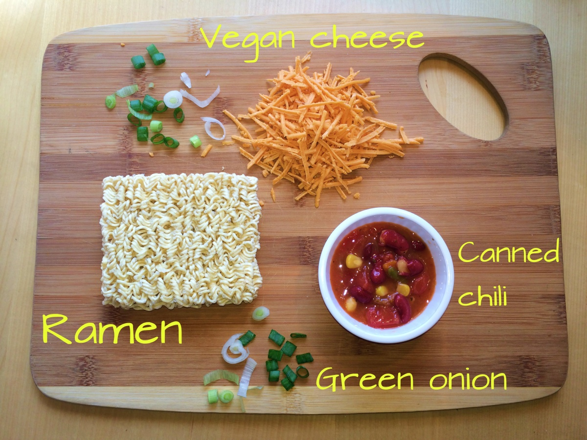 vegan chili cheese ramen recipe diy