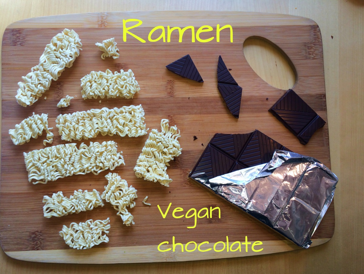 chocolate covered vegan ramen recipe diy