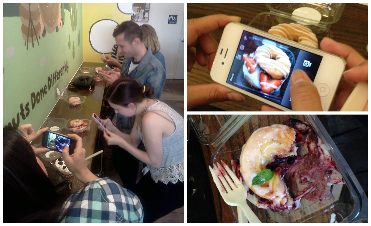 The peta2 Los Angeles staff on a field trip to our fave spot, Donut Friend.