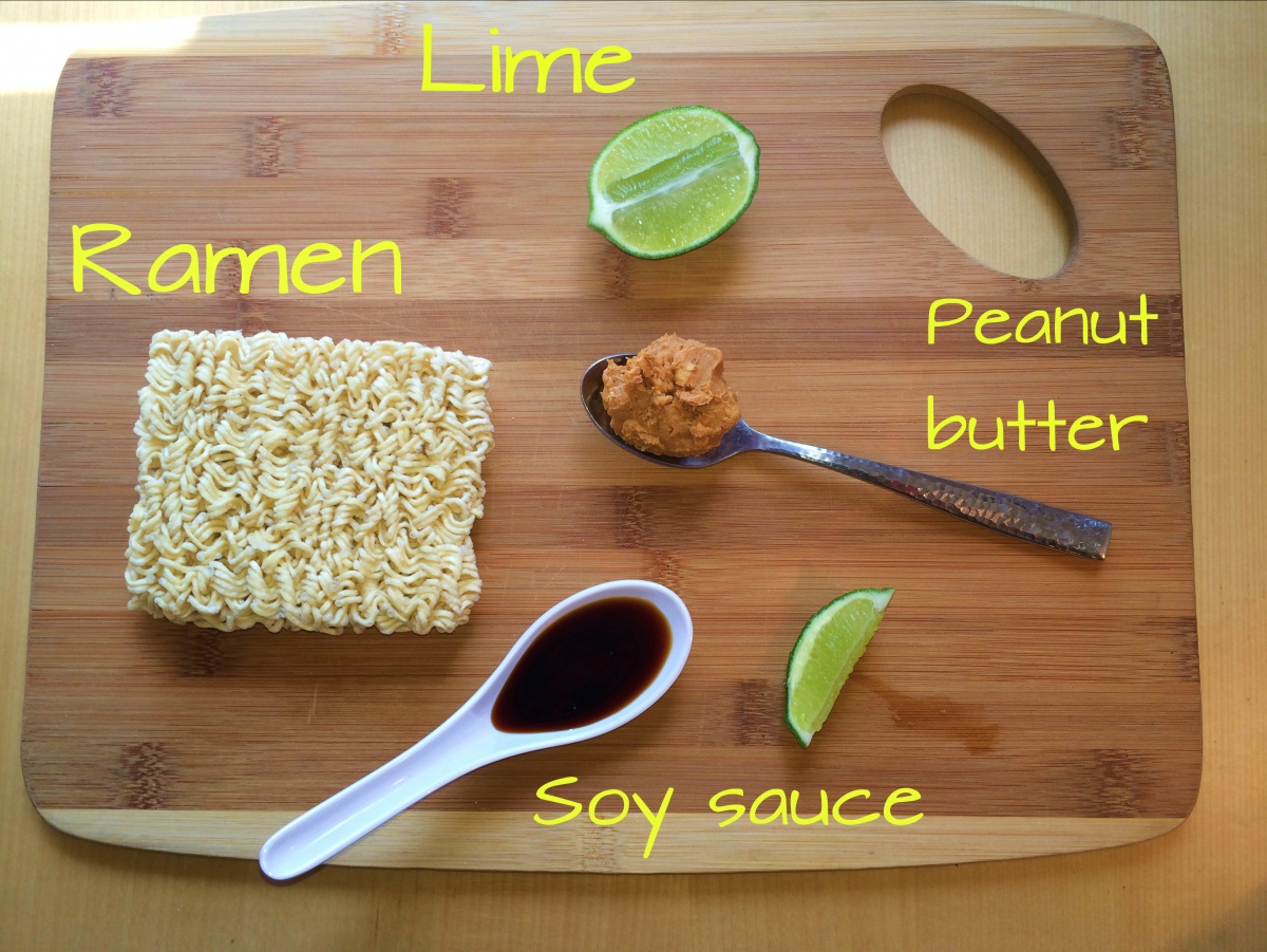 vegan ramen pad thai peanut butter lime recipe