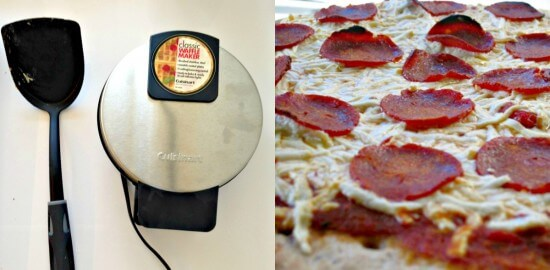 waffle maker pizza collage
