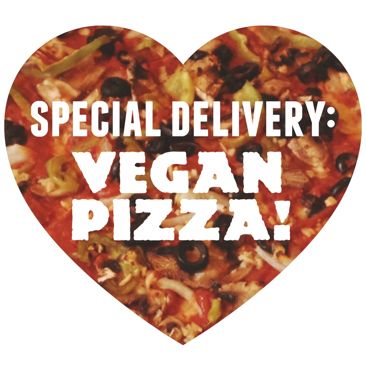 vegan pizza delivery heart