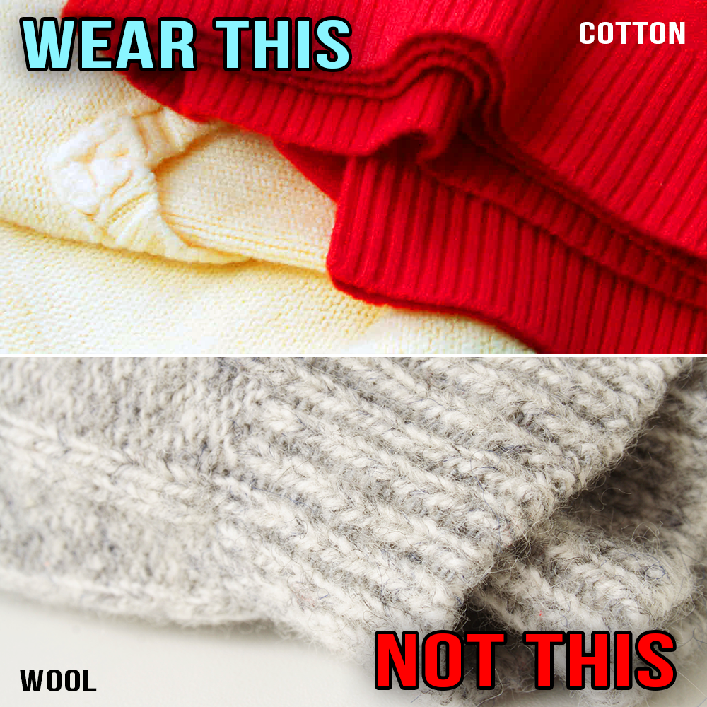 Cotton and Wool Sweaters