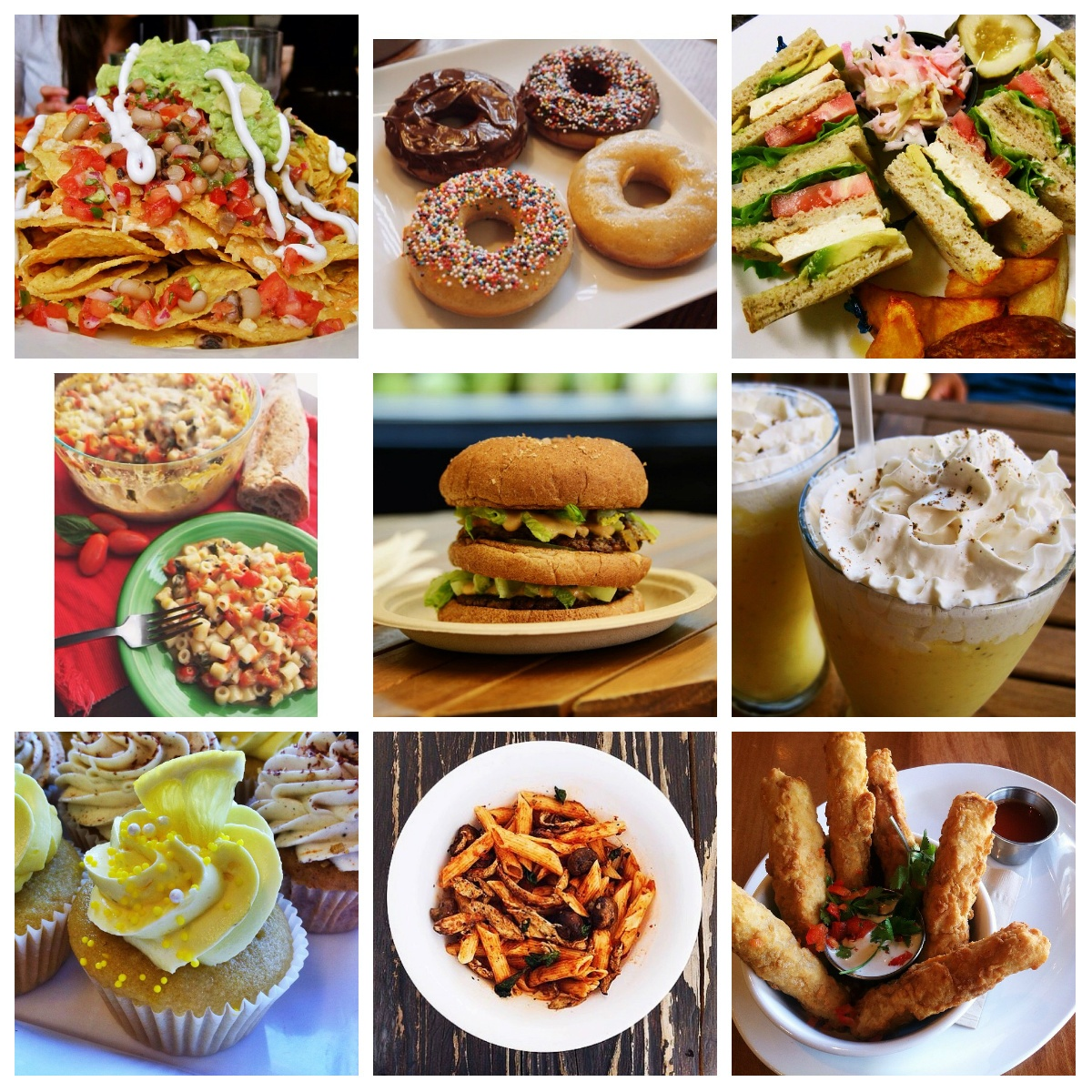 food instagram collage