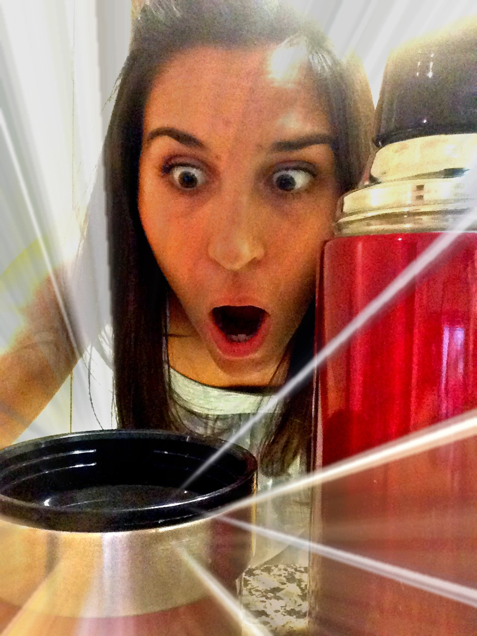 Excited Danielli with Thermos