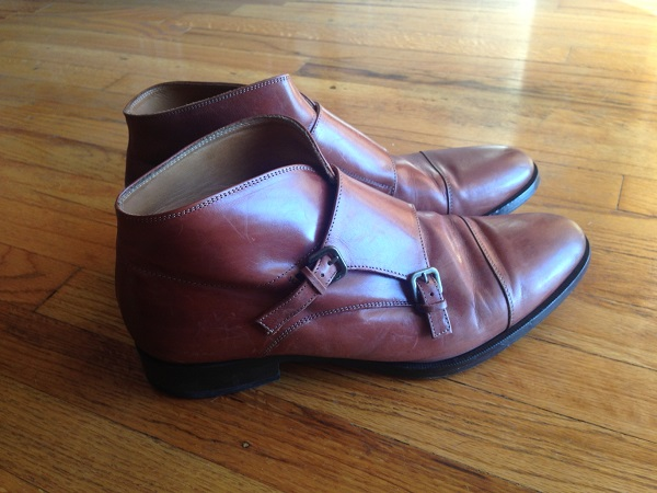 Vegan leather shoes