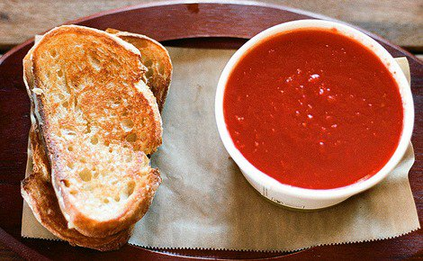 SFW Tomato Soup with Grilled Cheese