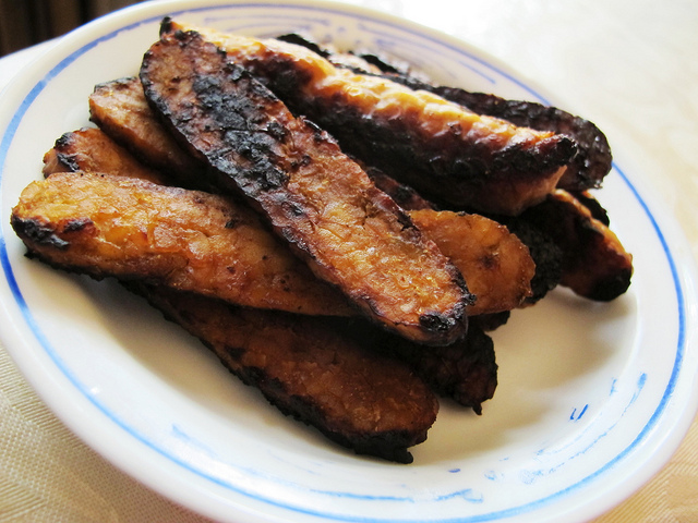 grilled tempeh bacon