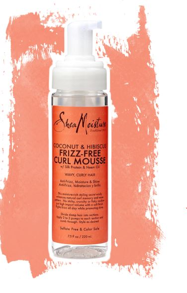 shea moisture coconut and hibscus frizz free curl mouse