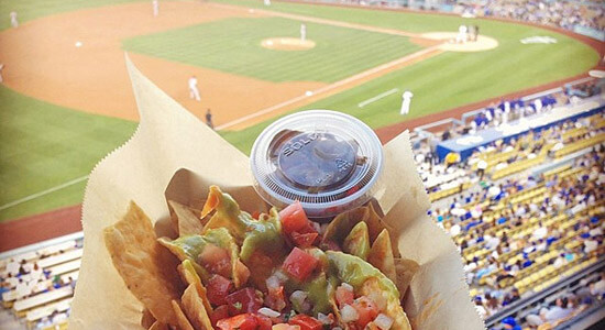 vegan nachos at baseball game