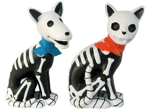 Day of the dead animal figurines