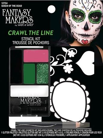 Fantasy makers day of the dead makeup stencils