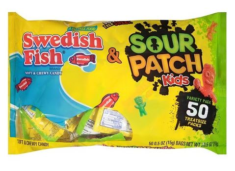 sour patch kids and swedish fish