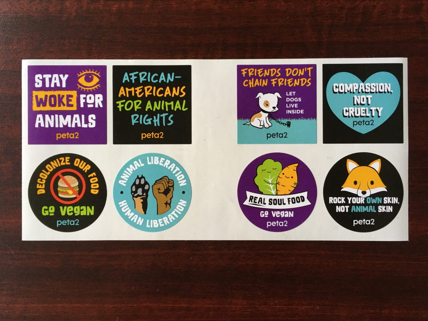 FREE peta2 African-Americans for Animal Rights Sticker Sheet! | peta2