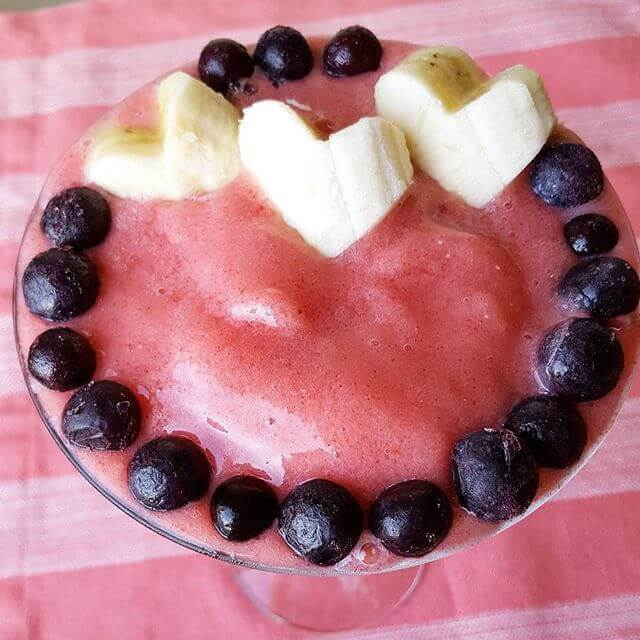 heart smoothie pic